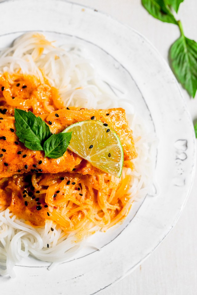 Coconut Red Curry Salmon