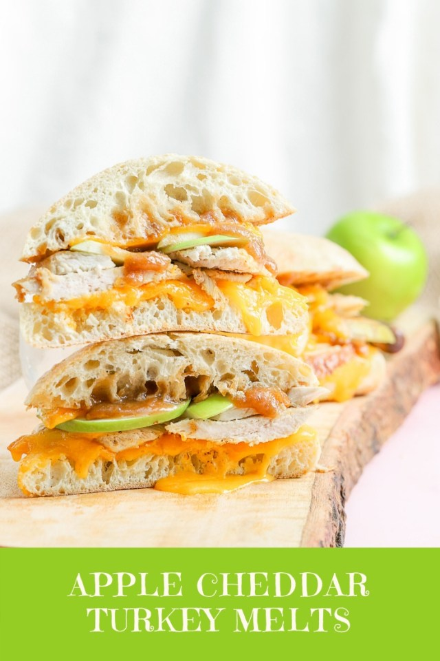 Apple Cheddar Turkey Melts
