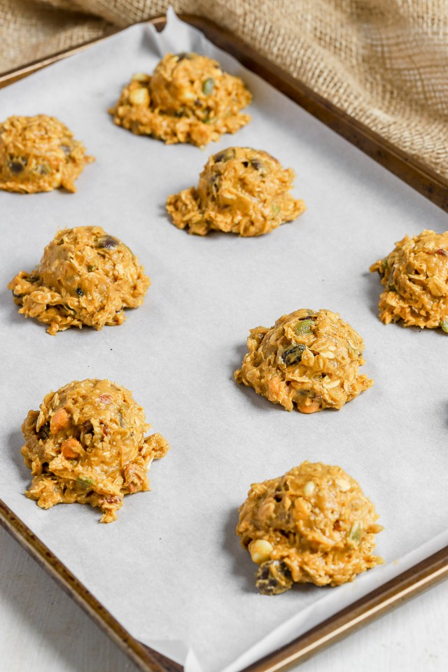 Quick Chewy Pumpkin Oatmeal Cookie Dough
