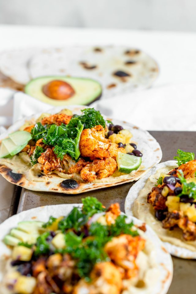 Air Fryer Blackened Cauliflower Tacos