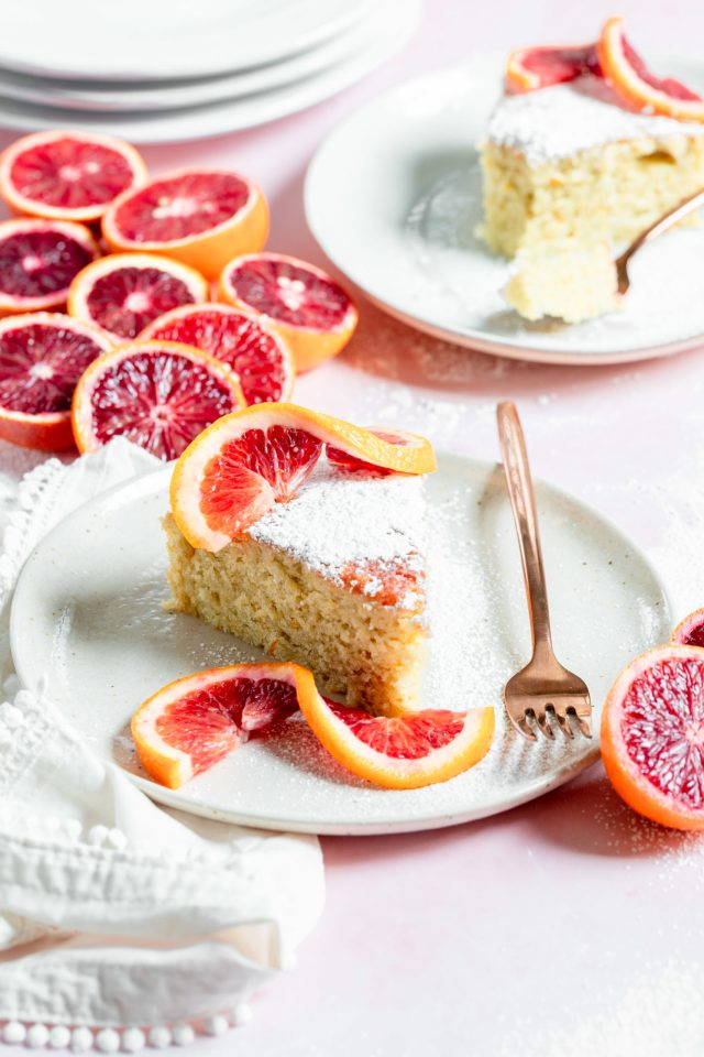 Dairy Free Blood Orange Olive Oil Cake