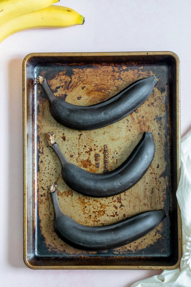 Roasted Bananas for Banana Bread
