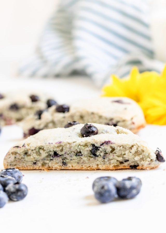 Food Processor Blueberry Scones