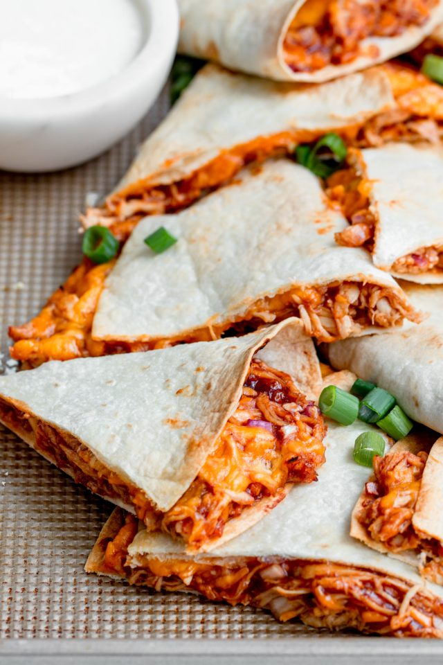 BBQ Chicken Quesadillas Ready to Eat