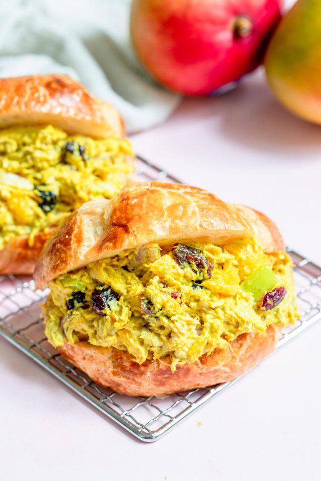 Mango Curry Chicken Salad Croissants