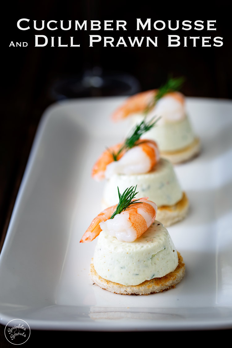 Cucumber Mousse And Dill Shrimp Bites (Easy Entertaining) | Sprinkles ...