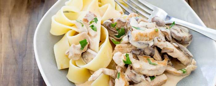Pork Stroganoff with Buttered Noodles