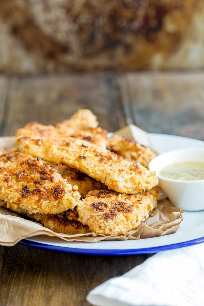 These Oven Baked Crispy Pretzel Coated Chicken Fingers are perfect for all the family. Serve them with a dipping sauce as a snack or team them with mash and gravy for a great mid-week meal. From Sprinkles and Sprouts.