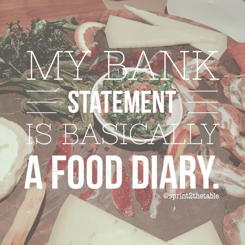 Image result for my bank balance is basically my food diary