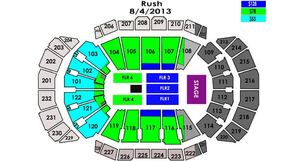 Seating Chart Sprint Center Kansas City Mo