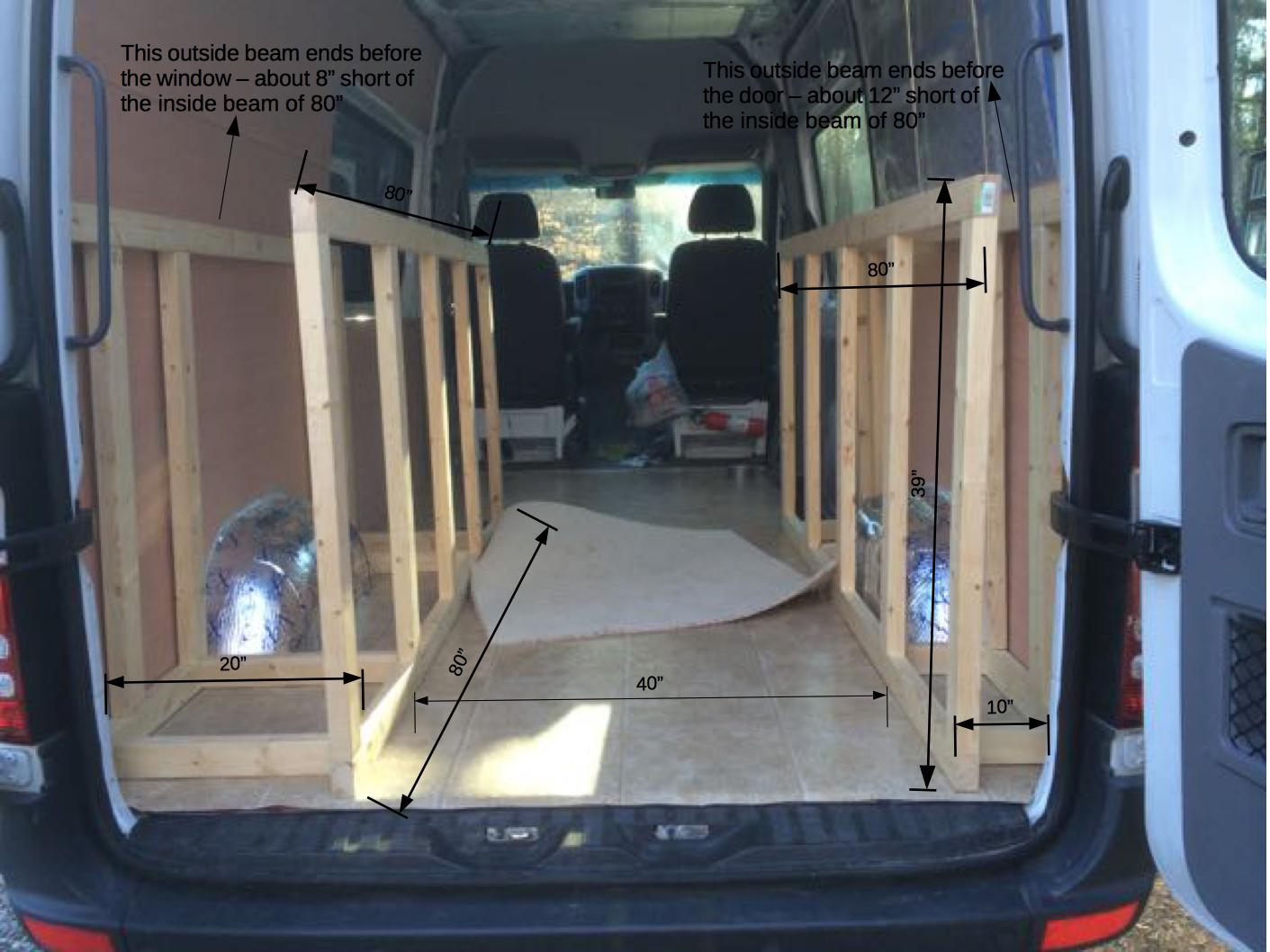 Bed Frame Construction Sprinter Van Diaries