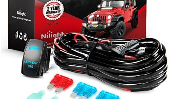 Nilight NI-WA 08 LED Light Bar Wiring Harness Kit 14AWG Heavy Duty on