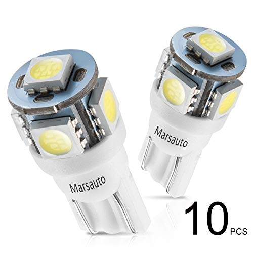 Marsauto 194 LED Light Bulb 6000K 168 T10 2825 5SMD LED ...