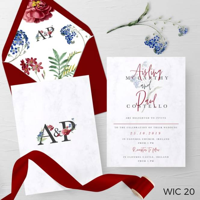 Red And White Invite A6 Printing Service
