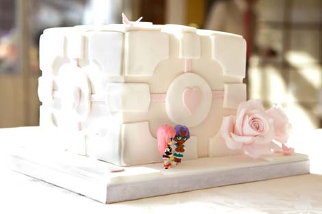 [Portal inspired cake