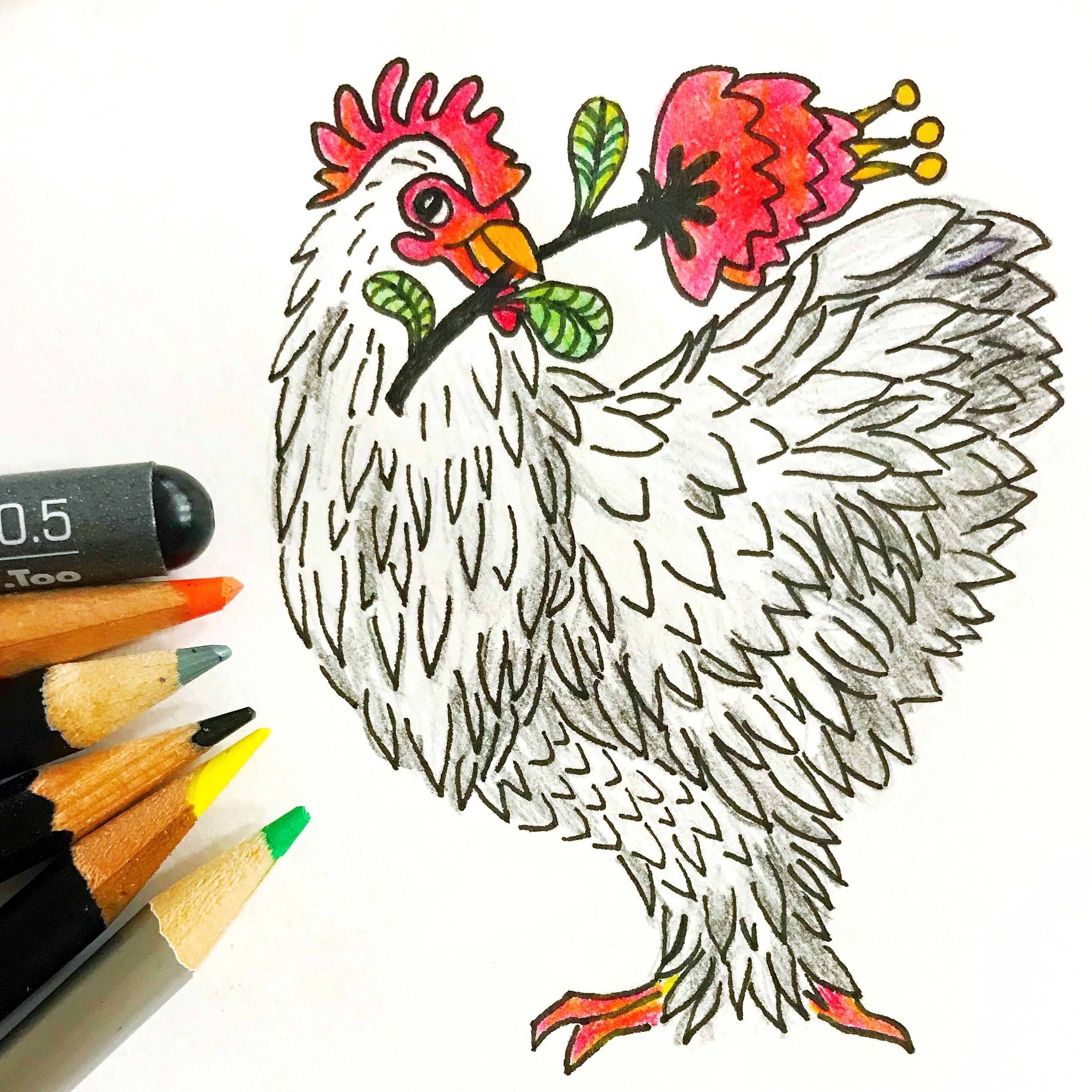 Sprittibee's Inktober Chicken