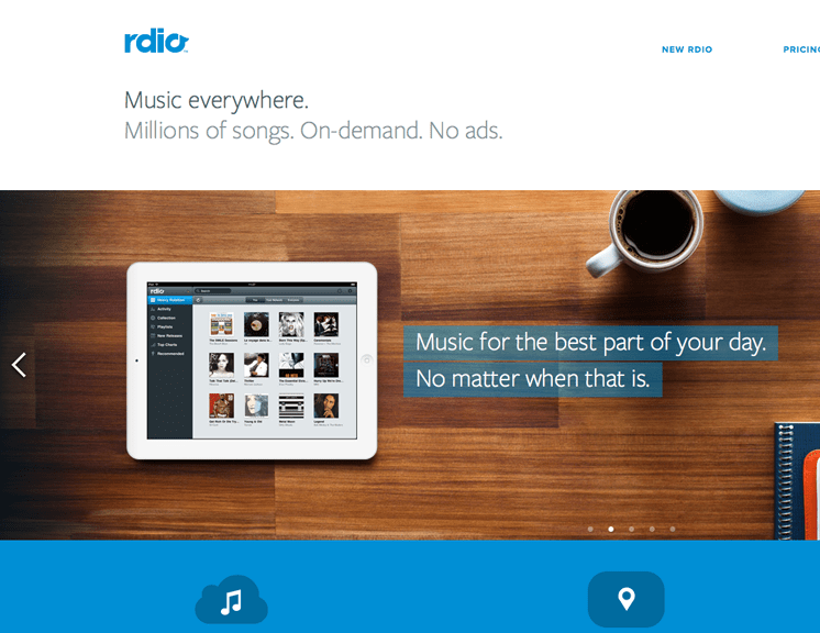 rdio great spacing in web design
