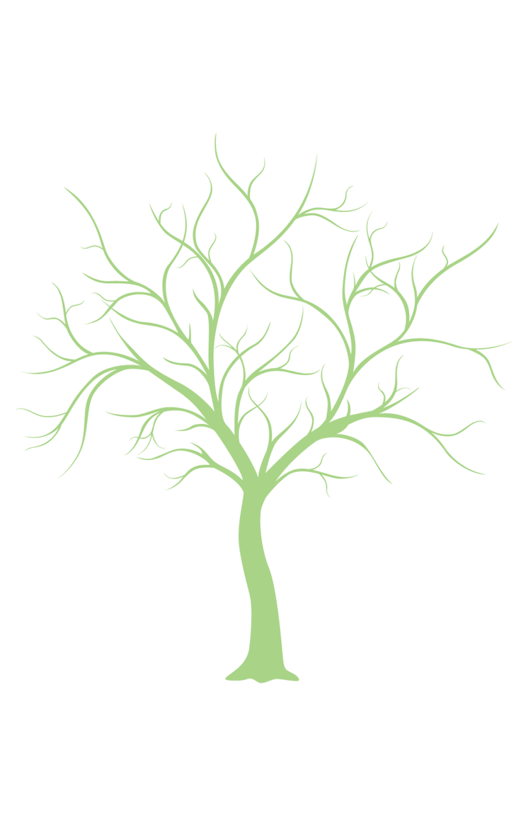 Download this thumbprint tree template