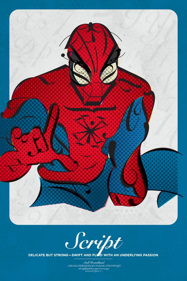 Spider Man Font, Typography, Script Font