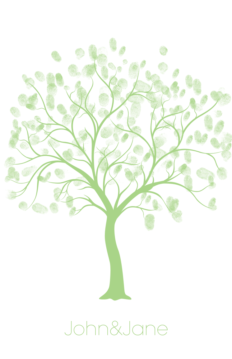 wedding tree thumbprint
