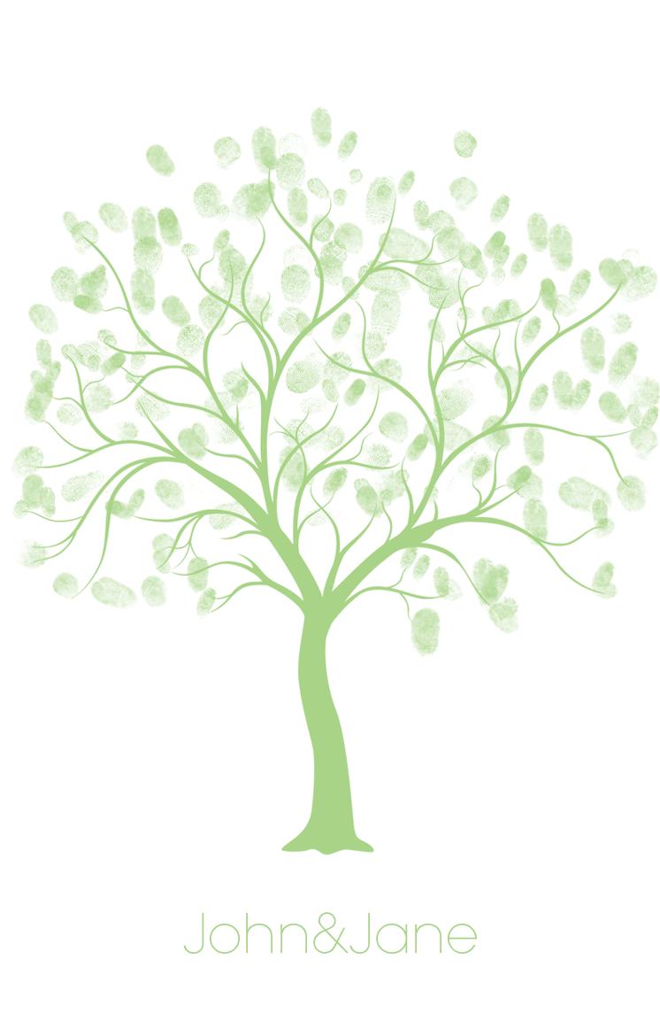 photo regarding Tree Printable titled Cost-free Wedding day Thumbprint Tree Layout Visitor Ebook Thumbprint