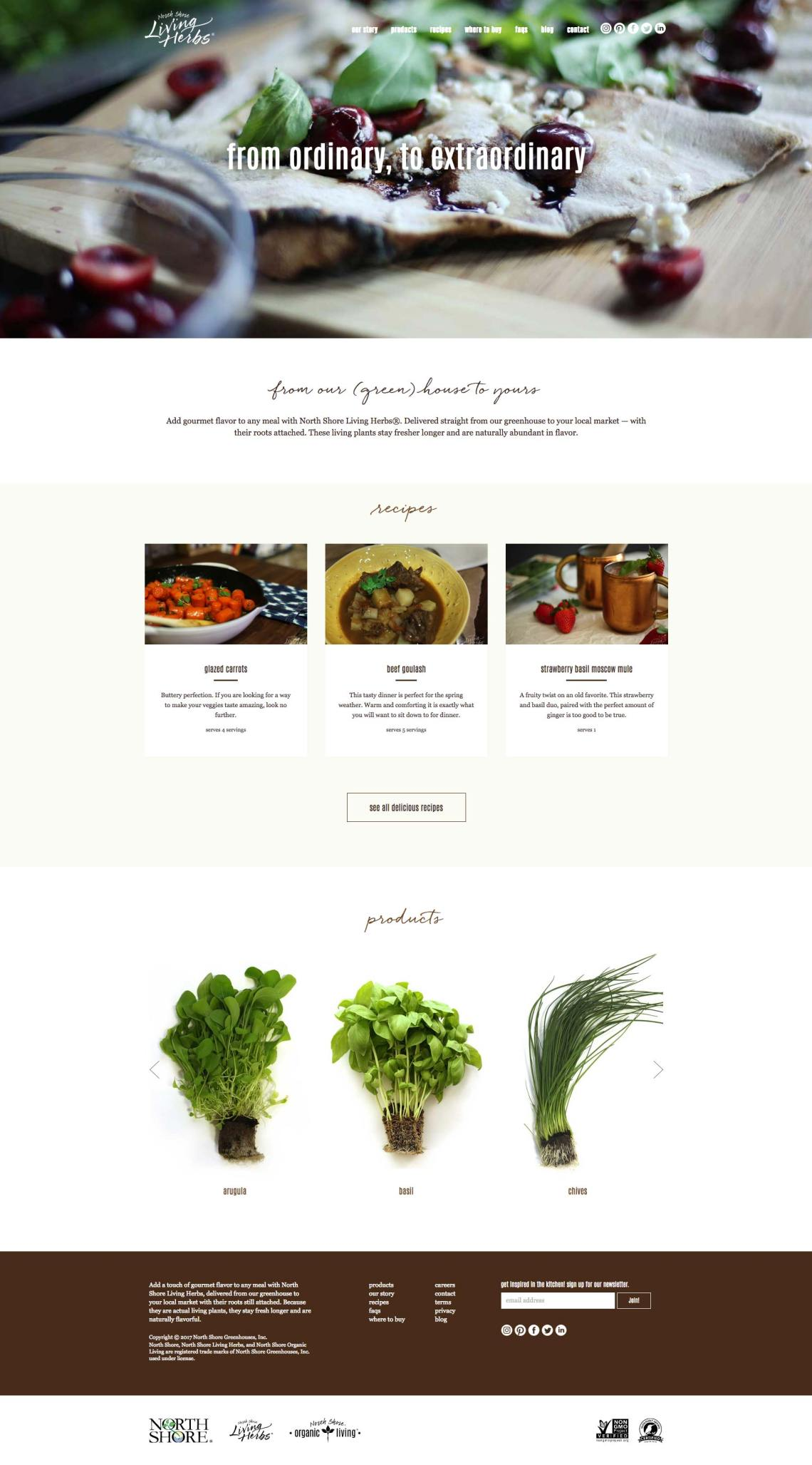 living herbs web design