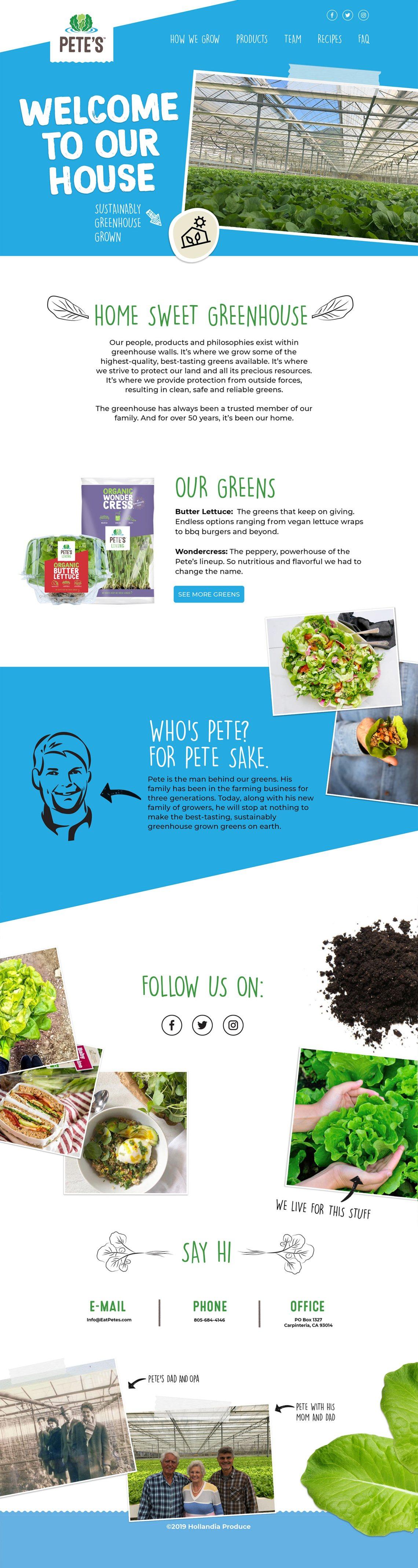 Pete's Living - eatpetes.com - Website Redesign Santa Barbara CA