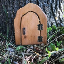 Small Outdoor Fairy Door handmade by Sprouted Dreams
