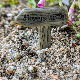 flowers time Fairy GArden Sign from Sprouted Dreams