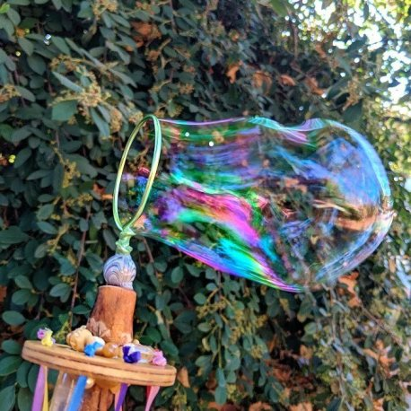 Fairy Wand-Maypole-Bubble blower handcrafted by Sprouted Dreams10