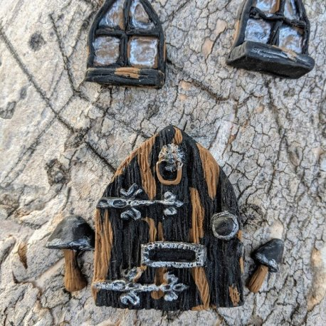 Gothic Door Set handmade by Sprouted Dreams10
