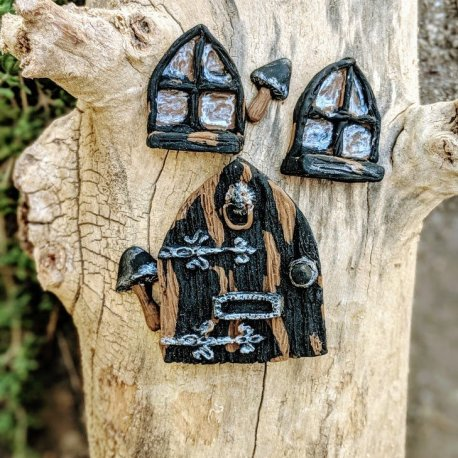 Gothic Door Set handmade by Sprouted Dreams17