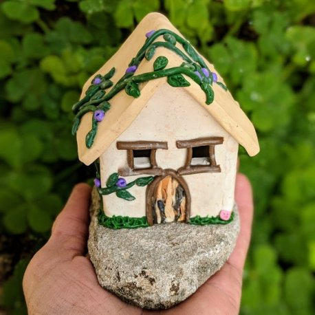 Gnome Cottage Handmade by Sprouted Dreams