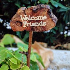 Welcome Friends Miniature Garden Sign