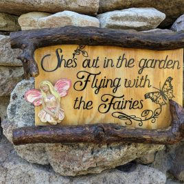 Remembrance Fairy Garden Sign