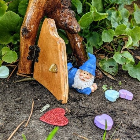 Blue Gnome Lying Down