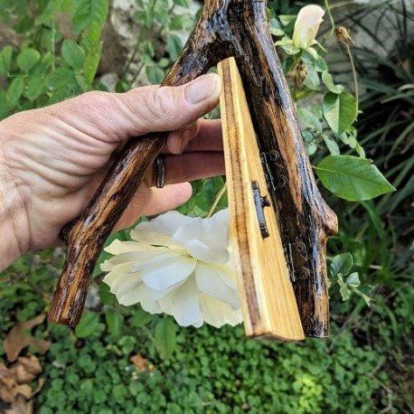 Angled Oak Fairy Door6