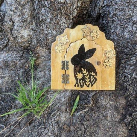 Mr Cottontails Fairy Garden Door