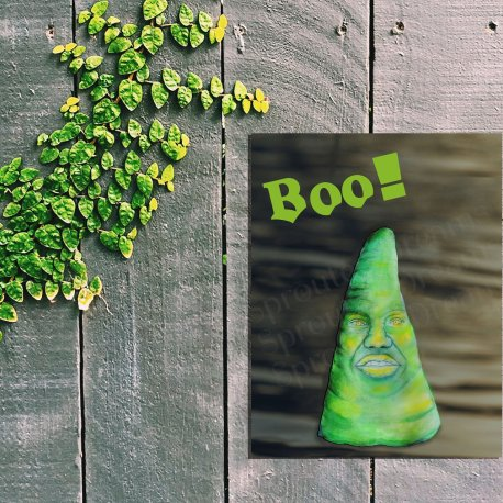 Boo on fence