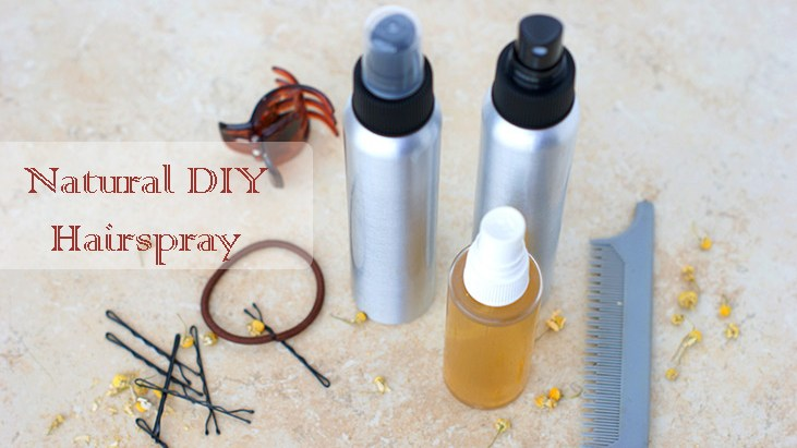 DIY Natural Hairspray-Gives you a great hold and makes your hair feel amazing!