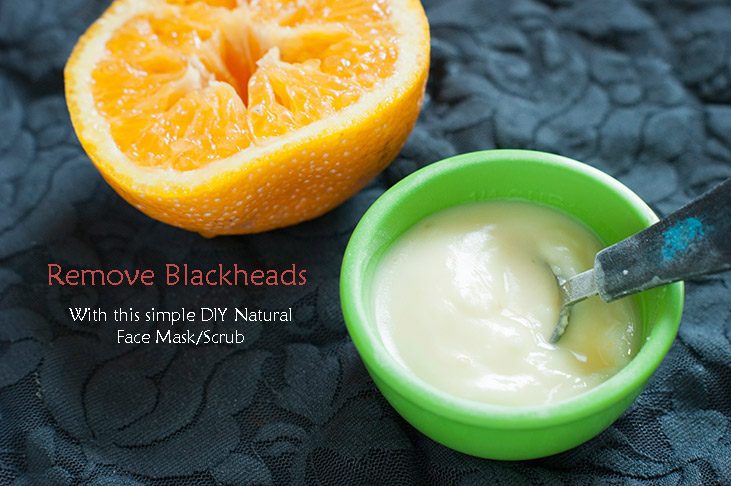 DIY Natural Blackhead Removal Mask/Scrub with quick results