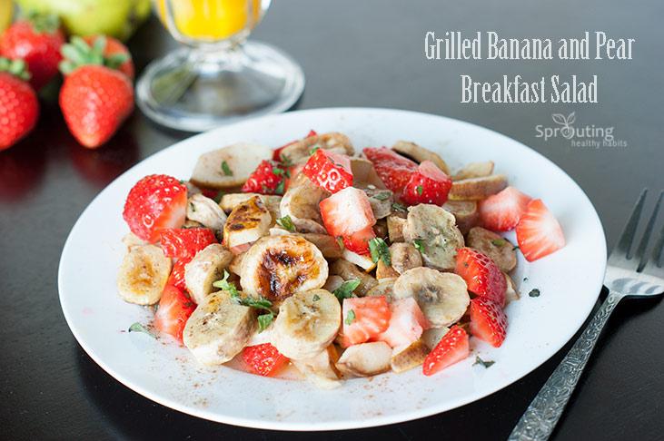 Banana and Pear Breakfast Salad