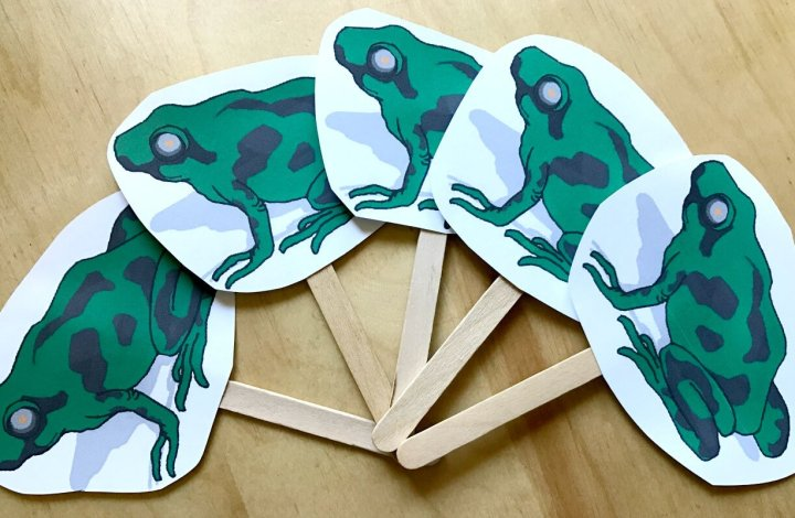 5 Green and Speckled Frogs {Free Printable}