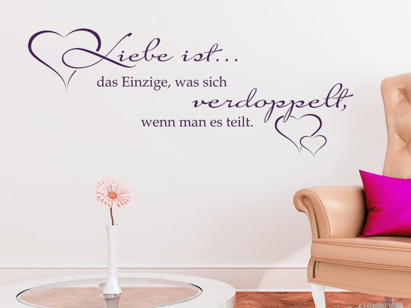 Liebe Ist Das Einzige Wandtattoo