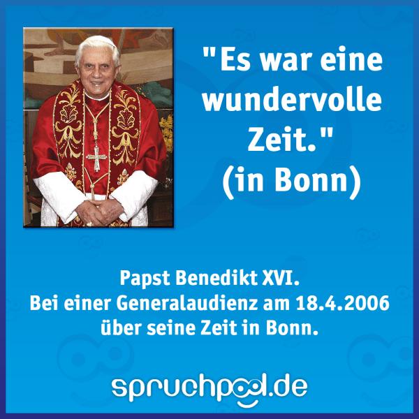 Es war eine wundervolle Zeit in Bonn - Papst Benedikt XVI.