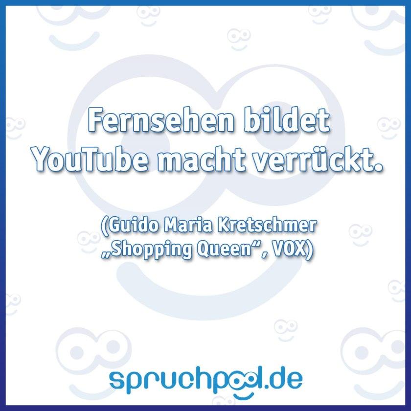 """Fernsehen bildet YouTube macht verrückt. (Guido Maria Kretschmer in """"Shopping Queen"""" auf VOX)"""