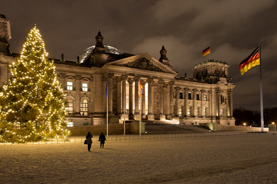 Tannenbaum am Reichstag Berlin