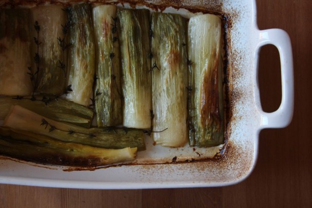 Olive Oil Braised Leeks