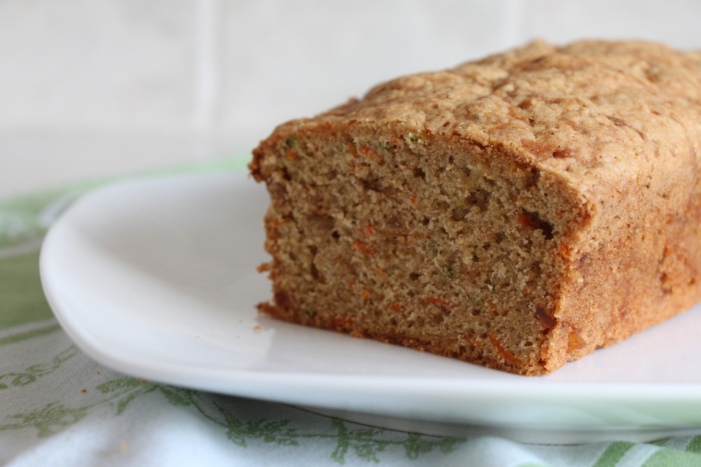 Carrot Zucchini Bread With Candied Ginger