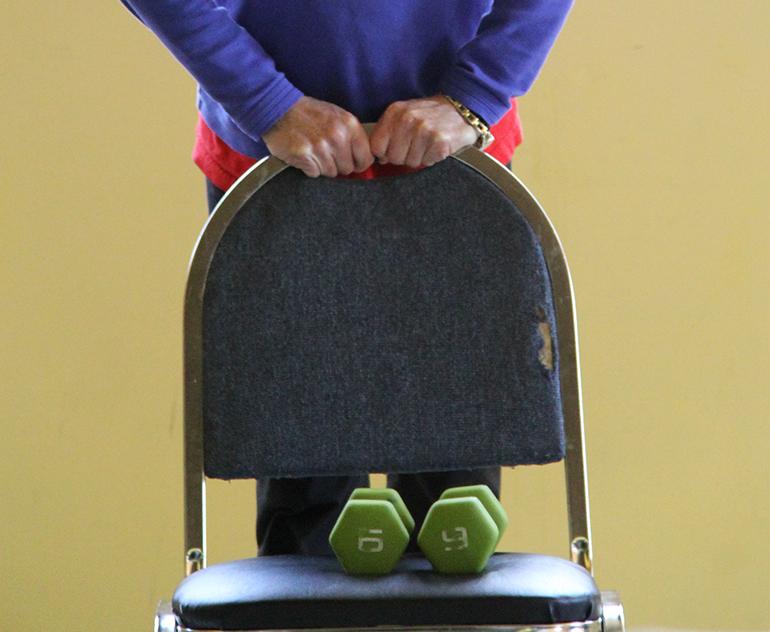 Enhanced fitness class begins
